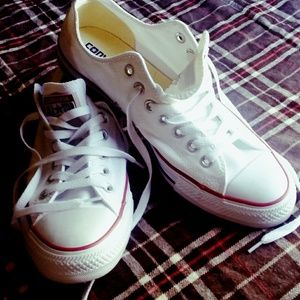 White Low-Top Converse Sneakers